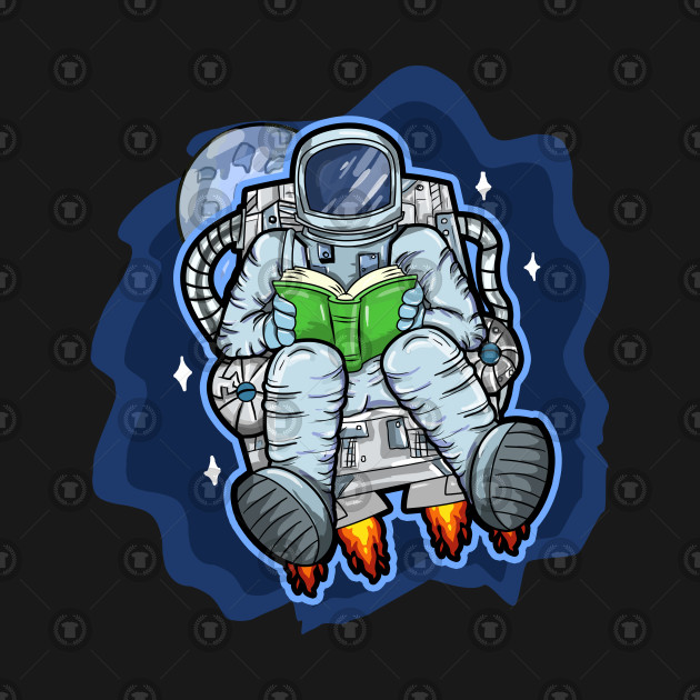 astronot readin a book